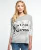 Superdry Nordic Breton T-shirt Grijs