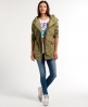Superdry Rookie Shawl Parka Coat Green
