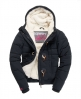 Superdry Microfibre Toggle Puffer Jacket Navy