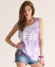 Superdry Vintage Tomboy Tank Purple