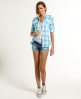Superdry Sheer Ombre Shirt Blue