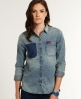 Superdry Loom Denim Shirt Blue
