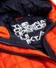 Superdry Cazadora con capucha Box Quilt Fuji Naranja