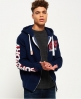 Superdry Athletic Kapuzenjacke Marineblau