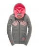 Superdry Polar Applique Zip Hoodie Grey