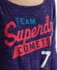 Superdry Comets T-shirt Purple