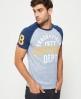 Superdry Trackster Baseball T-Shirt Blau
