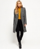 Superdry Nordic Longline Coat Light Grey