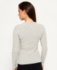 Superdry Luxe Ribbed Knit Jumper Light Grey