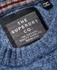 Superdry Harlo Rundhalspullover mit Zopfmuster Blau