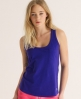 Superdry Embroidered Pocket Tank Purple