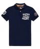 Superdry Super State Piqué Polo-Shirt Marineblau
