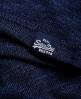 Superdry Slub Twist Jersey Lace Grandad-Shirt  Blau