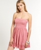 Superdry Summer Lace Dress Pink