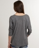 Superdry Slouch Sleeve Top Dark Grey