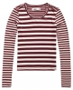 Superdry Essentials Mix Stripe Rib T-Shirt Lila