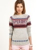 Superdry Atlas Fairisle Crew Grey