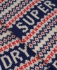Superdry Fairisle Scarf Blue