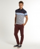 Superdry Drop Breton Stripe Polo Navy