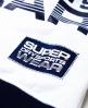 Superdry Crop Cut Quarter Crew Top Navy