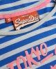 Superdry Ticket Stripe T-shirt Blue