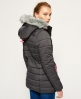 Superdry Cazadora Tall Marl Toggle Puffle Gris
