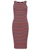 Superdry Core Midi Stripe Kleid  Pink