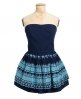 Superdry 50s Broderie Dress Navy