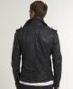 Superdry Ryan Leather Jacket Blue