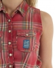 Superdry Twill Trailer Tie Shirt Red
