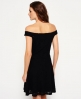 Superdry Katerina Bardot Lace Dress Black