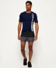 Superdry Sports Active Colour Block Shorts Black