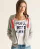 Superdry Pop Colour Zip Hoodie Grey