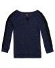 Superdry Slubby Twist Jerseyshirt mit Spitze Blau