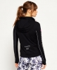Superdry Core Gym Zip Hoodie  Black