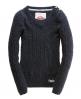 Superdry Croyde Cable Crew Blue