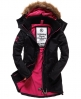 Superdry Pop Zip Wind Parka Coat Black