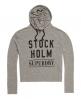 Superdry Nordic Graphic Crop Hoodie Light Grey