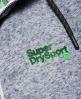 Superdry Sport Label Impact hættetrøje med lynlås Lysegrå