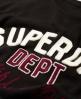 Superdry Campus Appliqué Kleid  Schwarz