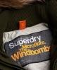 Superdry Blouson à capuche fourrure et microfibre Windbomber Vert