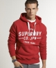Superdry Railroad Entry Hoodie Red