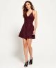 Superdry Alexandra Vee Skater-Kleid  Rot