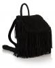 Superdry Premium Suede Neo Nomad Fringed Backpack Black