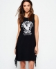 Superdry Boho Fringe Dress Black