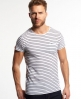 Superdry Lite Loomed Cut Curl Striped T-shirt White