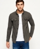 Superdry Camisa de tweed Ultimate  Gris