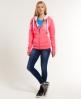 Superdry Track & Field Fur Hoodie Pink
