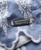 Superdry Broderie Skirt Blue