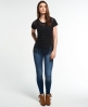 Superdry Prairie Plains Fringe T-Shirt Schwarz
